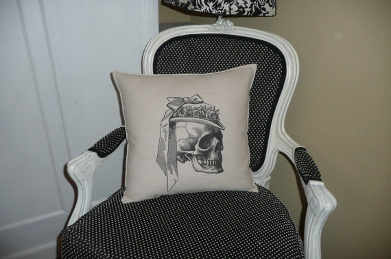 The Victorian Skull Pillow Cover