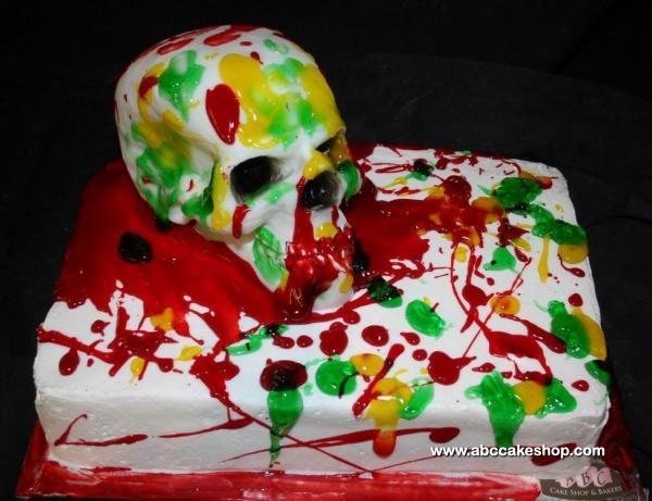 cake with skull