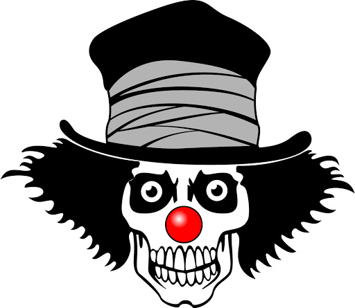 clown skull cartoon