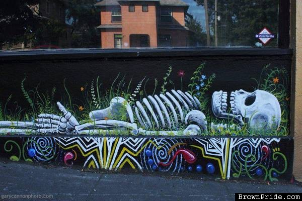 graffiti skeleton 1