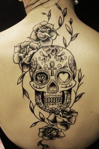 mexican sugar skull tattoo design