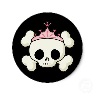 princess skull cartoon