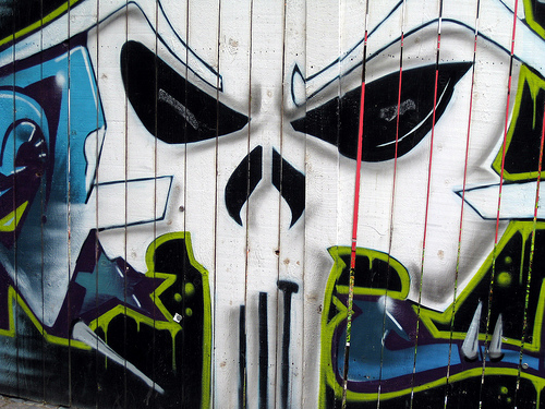 punisher graffiti