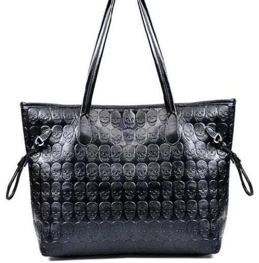 punk skull handbag