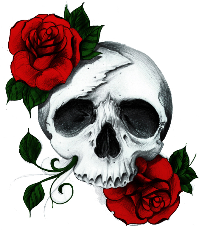 rose skull by a midza