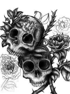 rose skulls 5
