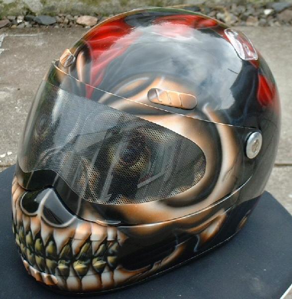 skull design motorcycle helmets 9