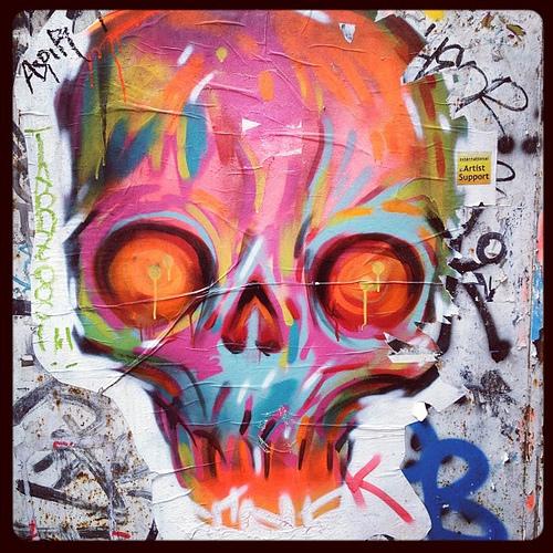 skull graffiti 1