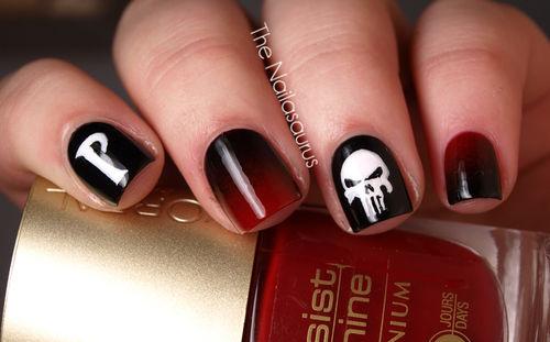 skull nail designs 10