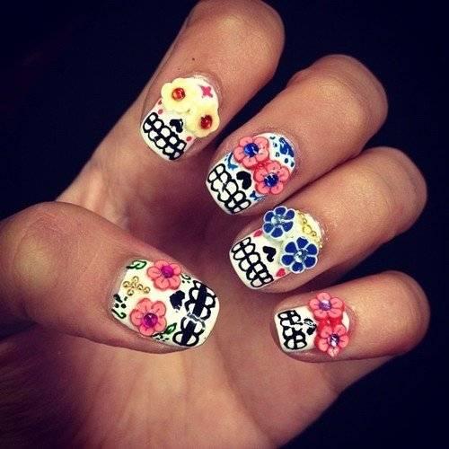 skull nail designs 11