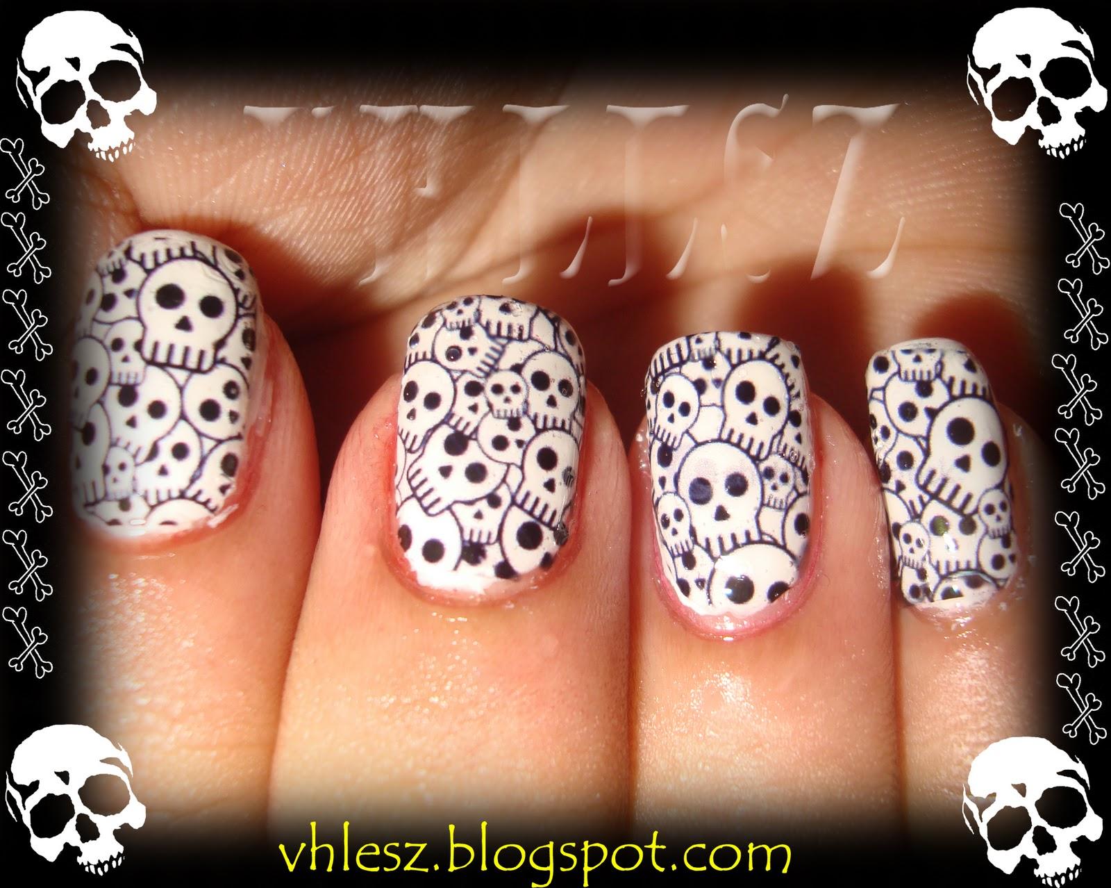 skull nail designs 12