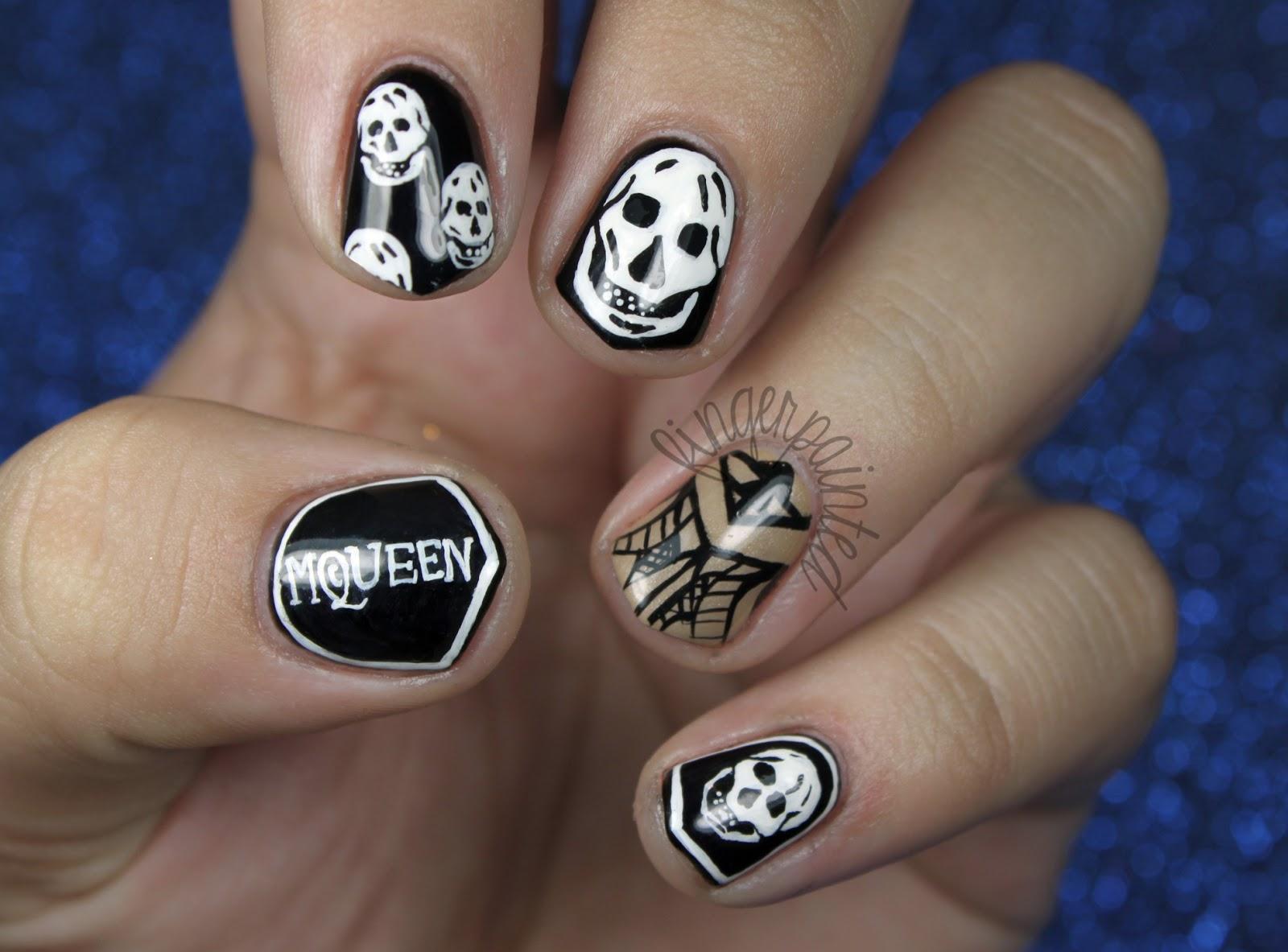 skull nail designs 14