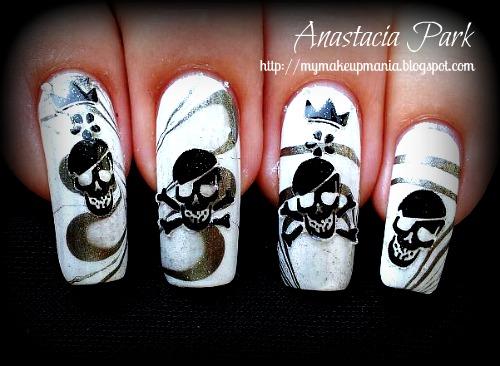 skull nail designs 16