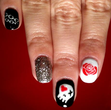 skull nail designs 18