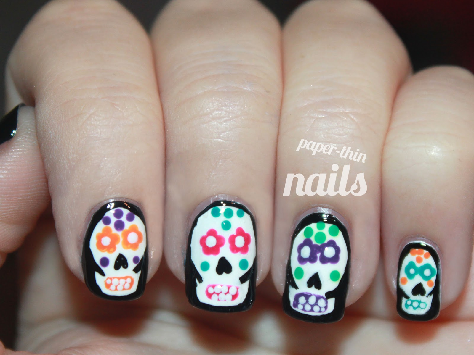 skull nail designs 19