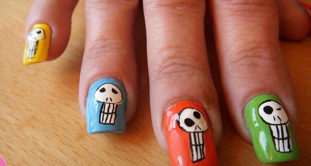 skull nail designs 2