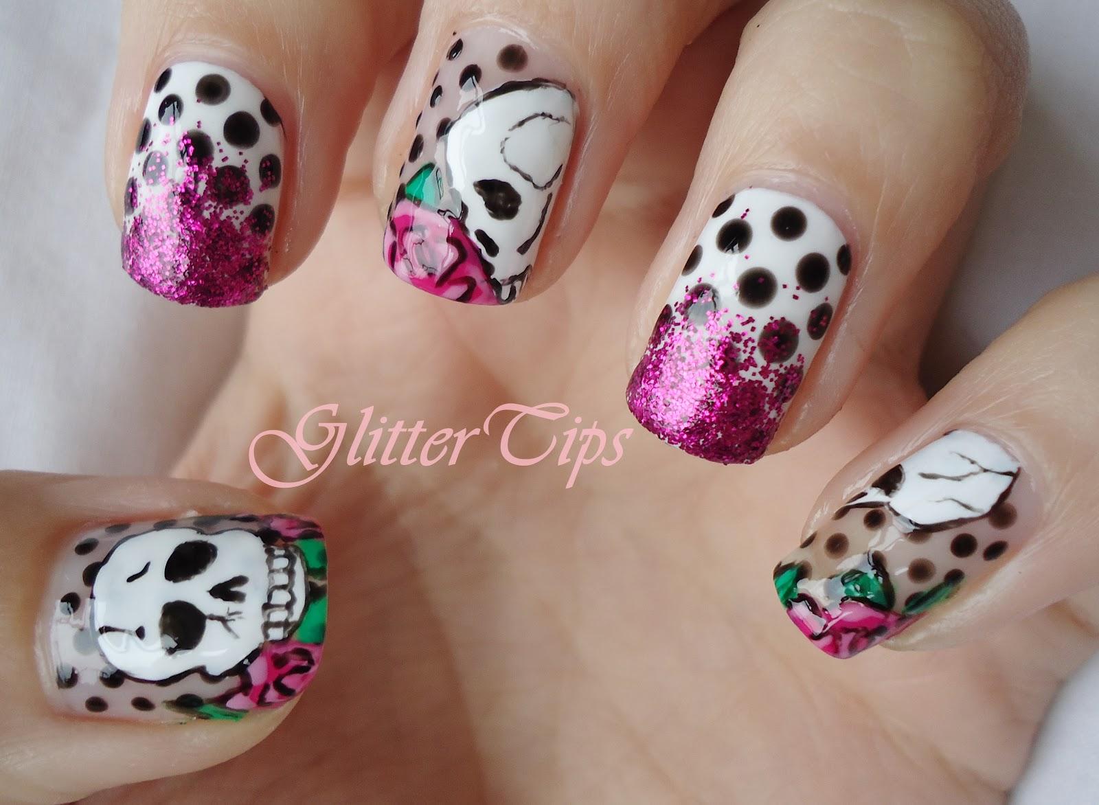 skull nail designs 3