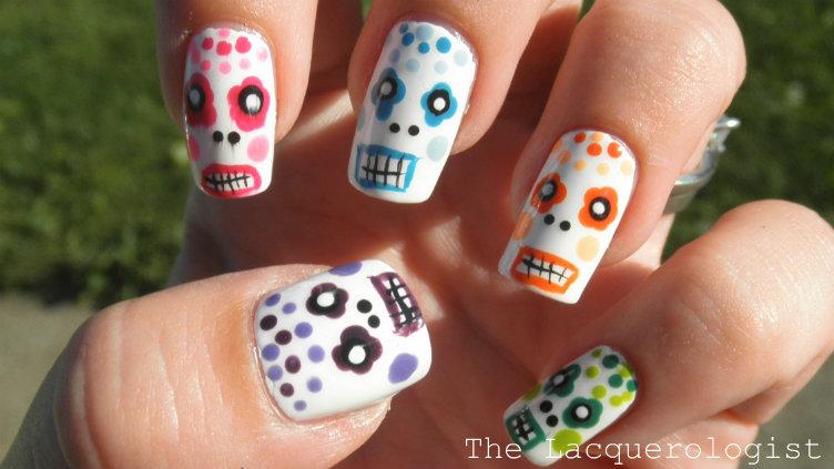 skull nail designs 6