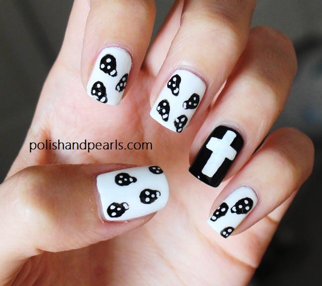 skull nail designs 7