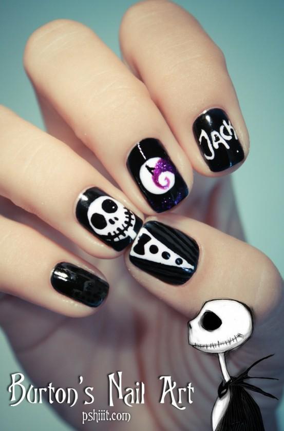 skull nail designs 8