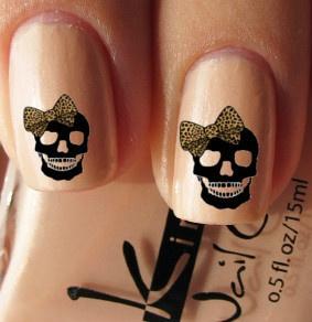 skull nail designs 9