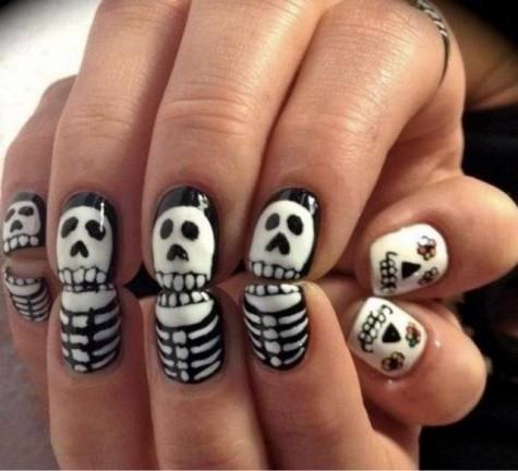 skull nail ideas 1