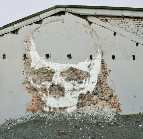 skull on the wall art
