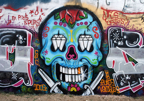 sugar skull graffiti