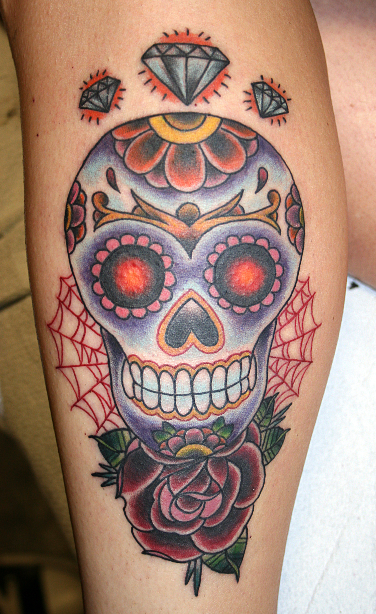 sugar skull tattoo 1