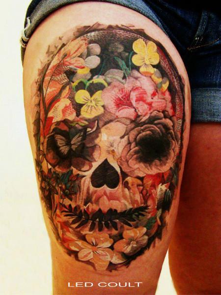 sugar skull tattoo 3