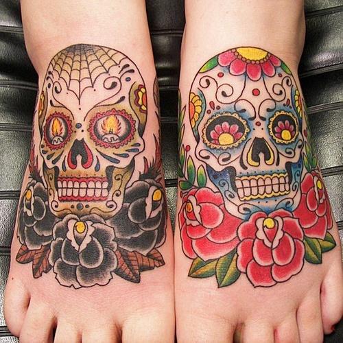 sugar skull tattoos (2)