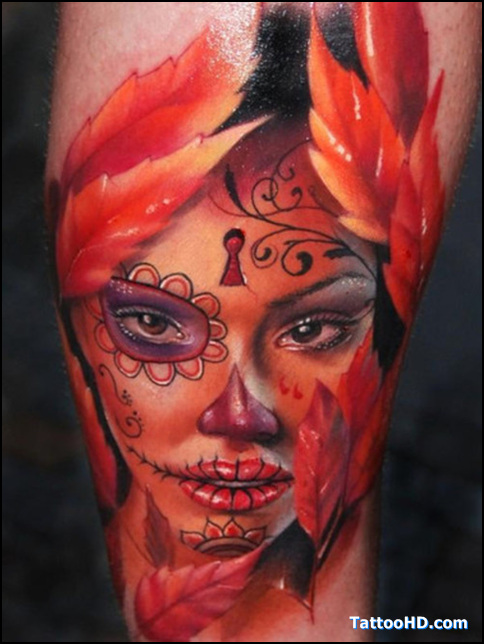 sugar skull tattoos pictures