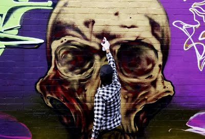 the art of making graffiti skull