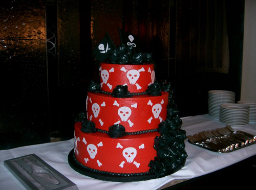 unusual wedding cake