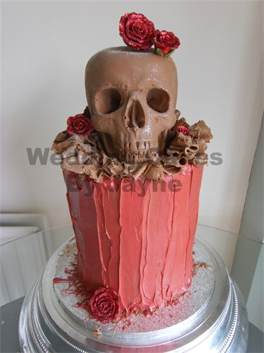 wedding cakes with skulls 1