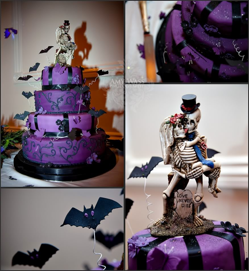 wedding cakes with skulls