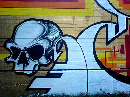 zurich skull graffiti rote fabrik