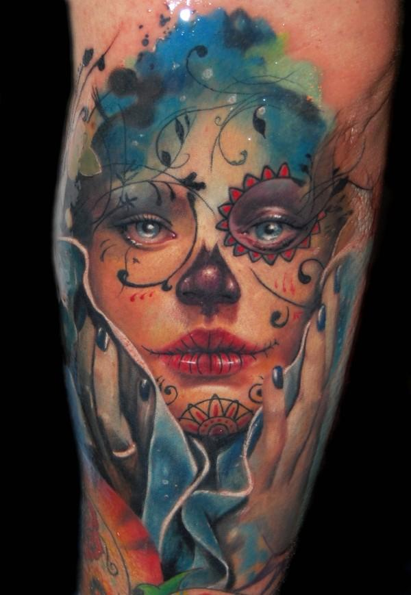 Alex de pase tattoosugar skull mexican