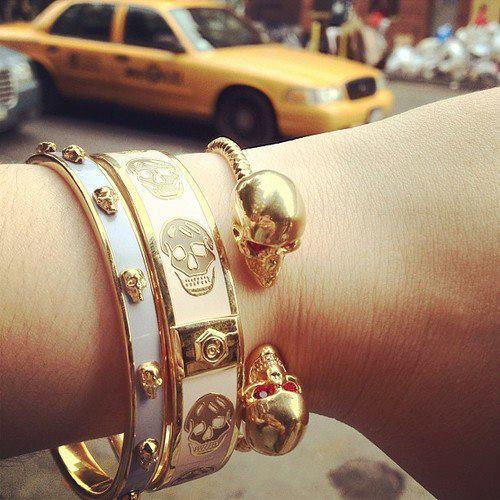 Alexander McQueen skull bracelets
