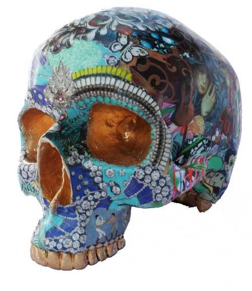 collage skulls 3