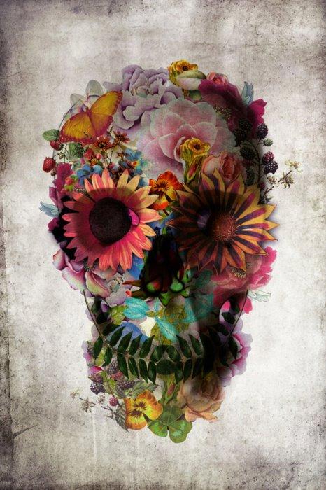 Floral Skull Illustration