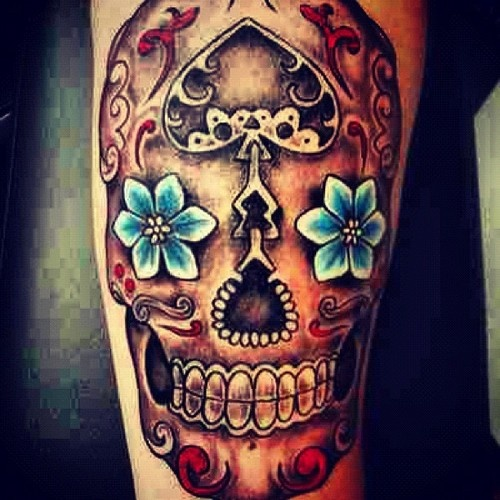 Mexican skull tattoos (2)