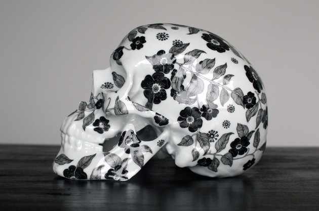 Porcelain Skull by K.olin tribu and NooN
