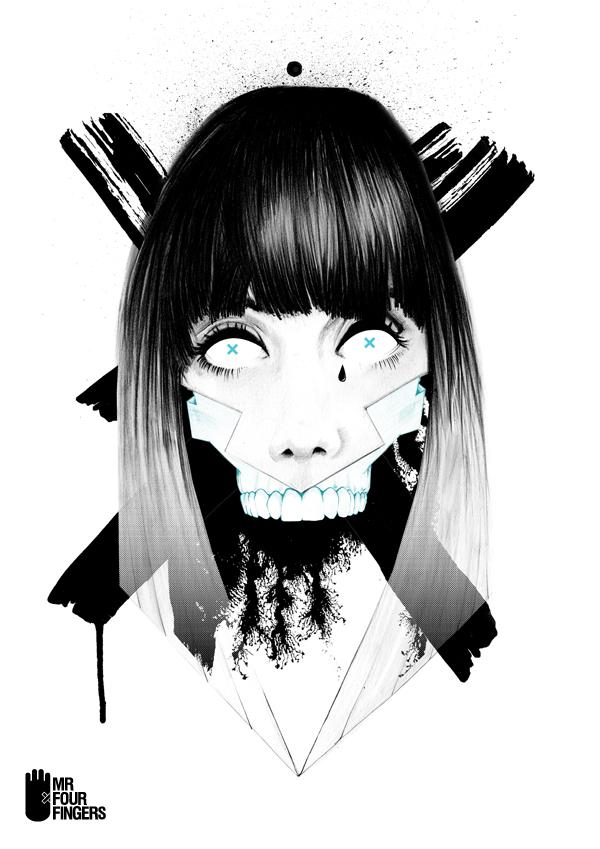 Skull by Mr Four Fingers 5