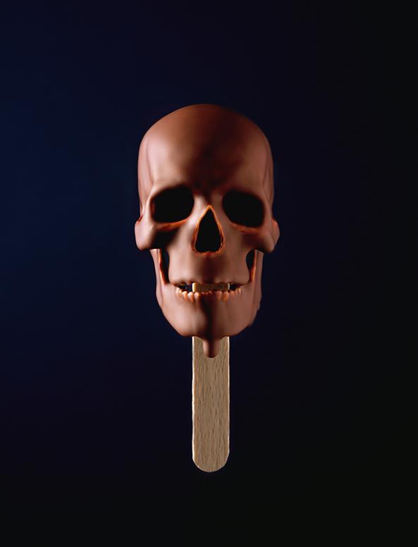 Skull ice-cream