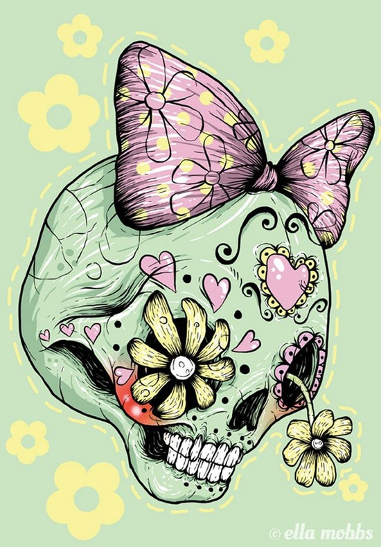 Skull illustrations by Ella Mobbs 1