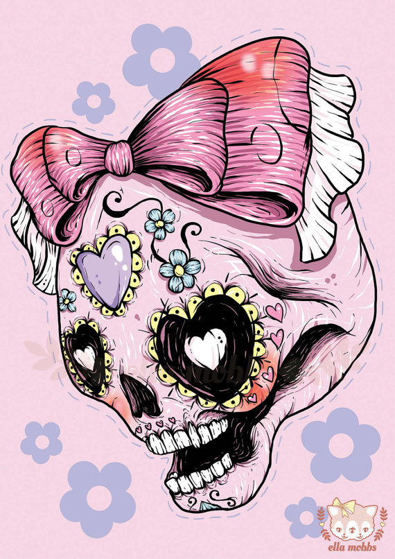 Skull illustrations by Ella Mobbs 2