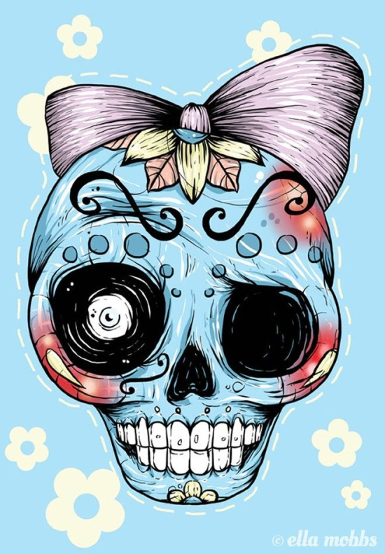 Skull illustrations by Ella Mobbs 3