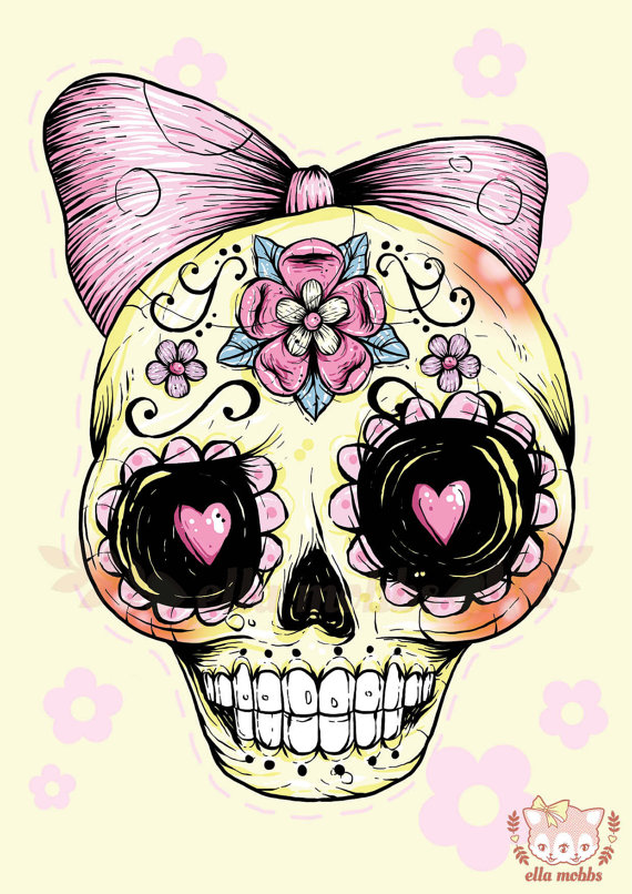 Skull illustrations by Ella Mobbs
