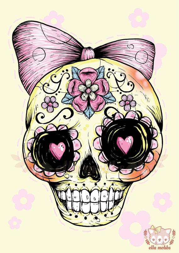 Skull illustrations by Ella Mobbs